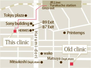 map to Ginza Maronie Dental Clinic